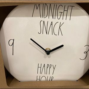 RAE DUNN MIDNIGHT SNACK HAPPY HOUR CLOCK